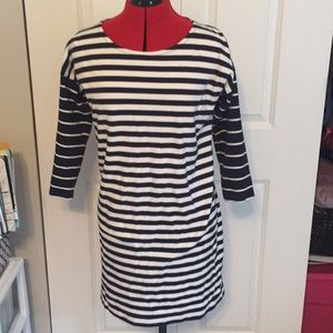 NEVER WORN Navy Striped J. Crew Dress